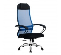 Кресло Samurai Ultra SU-1-BP 11 синий, сетка/ткань, крестовина хром Ch