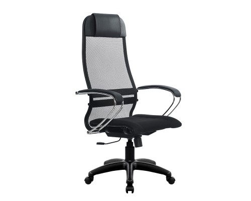 Кресло Samurai Ultra SU-1-BK 1 PL черный, ткань/сетка