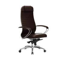 Кресло Samurai KL-1.04 кожа, темно-коричневый