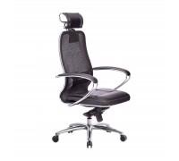 Кресло Samurai SL-2.04 сетка/кожа, черный ПЛЮС