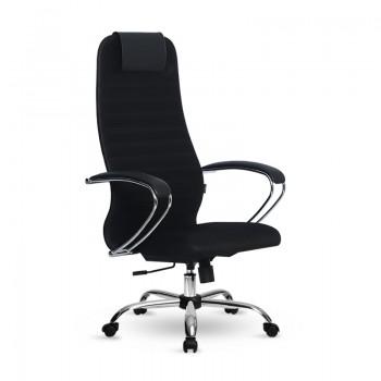 Кресло Samurai Slim S-BK 10 черный, сетка/ткань, крестовина хром Ch  - оптово-розничная продажа