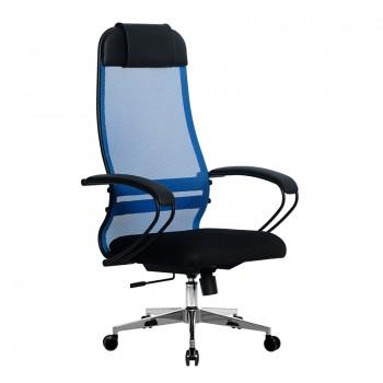 Кресло Samurai Ultra SU-1-BP 11 синий, сетка/ткань, крестовина хром Ch-2 - оптово-розничная продажа