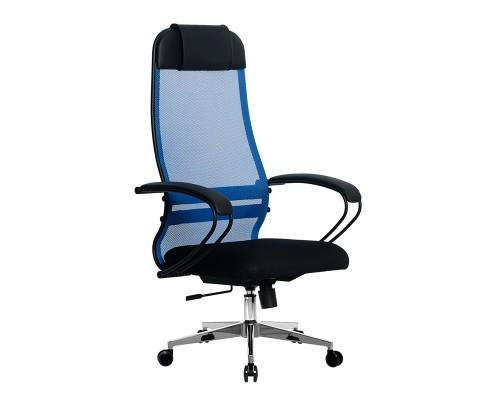 Кресло Samurai Ultra SU-1-BP 11 синий, сетка/ткань, крестовина хром Ch-2
