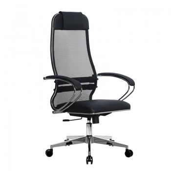 Кресло Samurai Ultra SU-1-BK 16 CH-2 черный, кожа NewLeather/сетка - оптово-розничная продажа