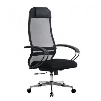 Кресло Samurai Ultra SU-1-BP 11 черный, сетка/ткань, крестовина хром Ch-2 - оптово-розничная продажа