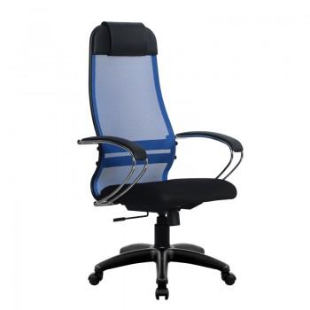 Кресло Samurai Ultra SU-1-BK 18 синий, сетка/ткань, крестовина пластик Pl - оптово-розничная продажа