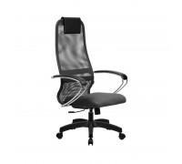 Кресло Samurai Slim S-BK 8 темно-серый, сетка/ткань, крестовина пластик Pl