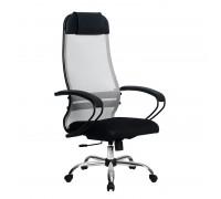 Кресло Samurai Ultra SU-1-BP 11 светло-серый, сетка/ткань, крестовина хром Ch