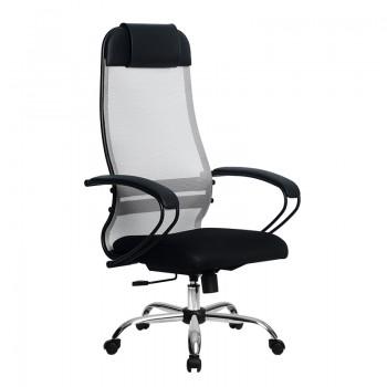 Кресло Samurai Ultra SU-1-BP 11 светло-серый, сетка/ткань, крестовина хром Ch  - оптово-розничная продажа