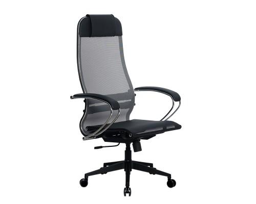 Кресло Samurai Ultra SU-1-BK 4 PL-2 серый, сетка