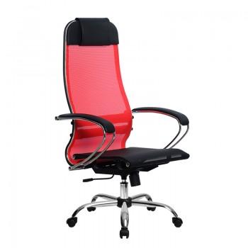 Кресло Samurai Ultra SU-1-BK 4 CH красный, сетка - оптово-розничная продажа