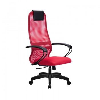 Кресло Samurai Slim S-BP 8 красный, сетка/ткань, крестовина пластик Pl  - оптово-розничная продажа