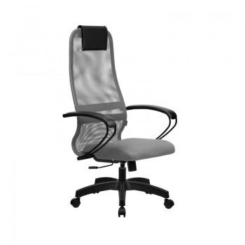 Кресло Samurai Slim S-BP 8 светло-серый, сетка/ткань, крестовина пластик Pl  - оптово-розничная продажа