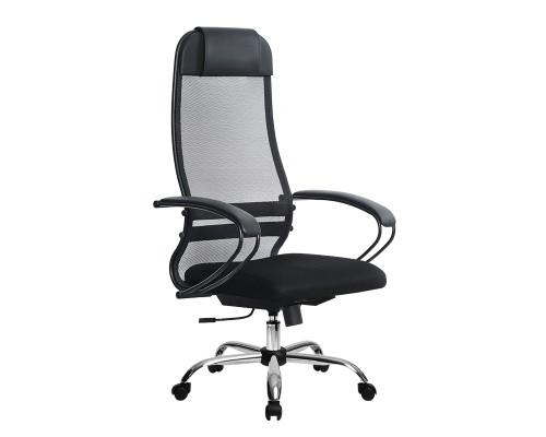 Кресло Samurai Ultra SU-1-BP 11 темно-серый, сетка/ткань, крестовина хром Ch