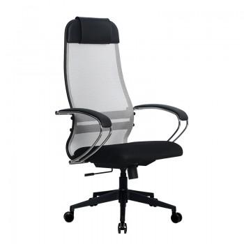 Кресло Samurai Ultra SU-1-BK 18 светло-серый, сетка/ткань, крестовина пластик Pl-2 - оптово-розничная продажа