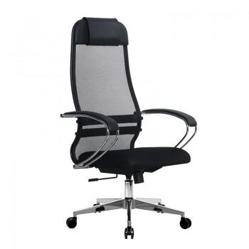 Кресло Samurai Ultra SU-1-BK 18 темно-серый, сетка/ткань, крестовина хром Ch-2 - оптово-розничная продажа