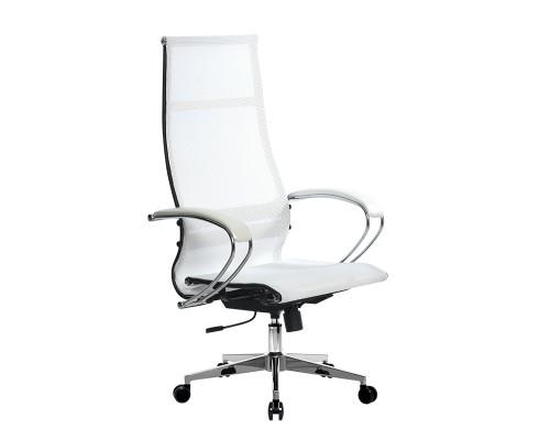 Кресло Samurai Ultra SK-1-BK 7 CH-2 белый, сетка
