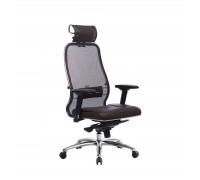 Кресло Samurai SL-3.04 сетка/кожа, темно-коричневый