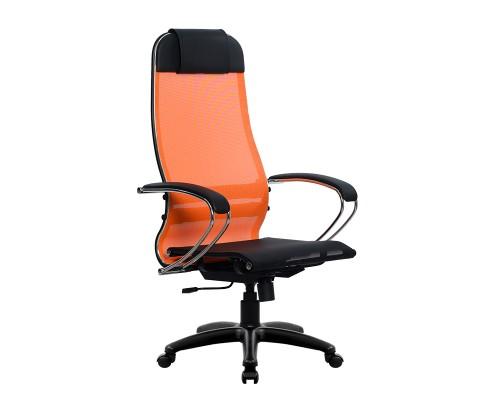Кресло Samurai Ultra SU-1-BK 4 PL оранжевый, сетка