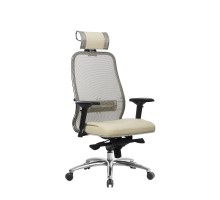 Кресло Samurai SL-3.04 сетка/кожа, бежевый