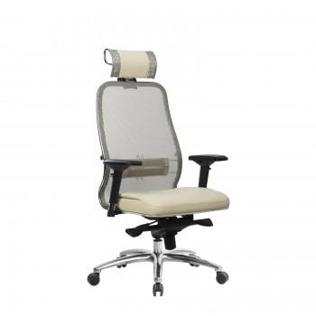Кресло Samurai SL-3.04 сетка/кожа, бежевый - оптово-розничная продажа