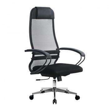 Кресло Samurai Ultra SU-1-BP 11 темно-серый, сетка/ткань, крестовина хром Ch-2 - оптово-розничная продажа