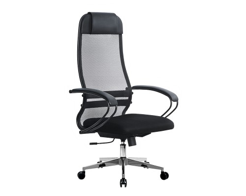 Кресло Samurai Ultra SU-1-BP 11 темно-серый, сетка/ткань, крестовина хром Ch-2