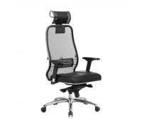 Кресло Samurai SL-3.04 сетка/кожа, черный