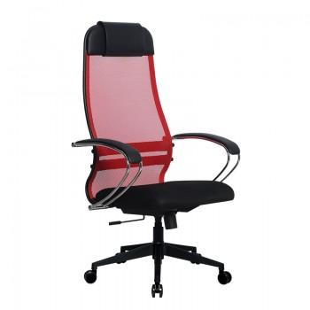Кресло Samurai Ultra SU-1-BK 18 красный, сетка/ткань, крестовина пластик Pl-2 - оптово-розничная продажа