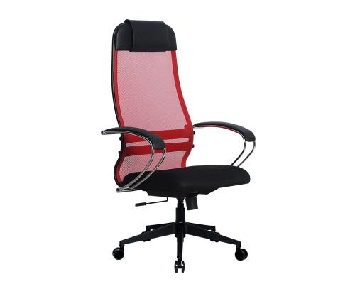 Кресло Samurai Ultra SU-1-BK 18 красный, сетка/ткань, крестовина пластик Pl-2