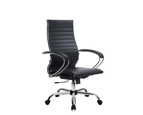 Кресло Samurai Ultra SK-2-BK 10 CH черный, кожа NewLeather