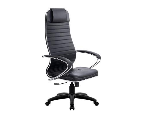 Кресло Samurai Ultra SU-1-BK 6 PL черный, кожа NewLeather