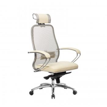 Кресло Samurai SL-2.04 сетка/кожа, бежевый - оптово-розничная продажа