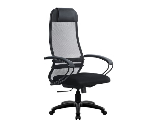 Кресло Samurai Ultra SU-1-BP 11 темно-серый, сетка/ткань, крестовина пластик Pl