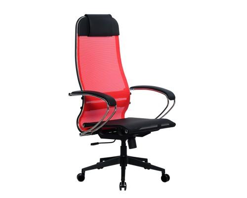 Кресло Samurai Ultra SU-1-BK 4 PL-2 красный, сетка