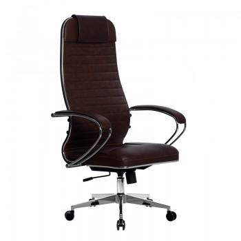 Кресло Samurai Ultra SU-1-BK 6 CH-2 коричневый, кожа NewLeather - оптово-розничная продажа