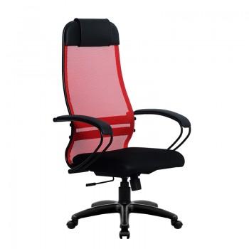 Кресло Samurai Ultra SU-1-BP 11 красный, сетка/ткань, крестовина пластик Pl - оптово-розничная продажа