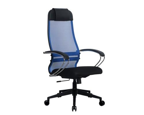 Кресло Samurai Ultra SU-1-BK 18 синий, сетка/ткань, крестовина пластик Pl-2
