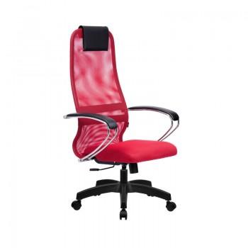 Кресло Samurai Slim S-BK 8 красный, сетка/ткань, крестовина пластик Pl  - оптово-розничная продажа