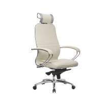 Кресло Samurai KL-2.04 кожа, белый лебедь