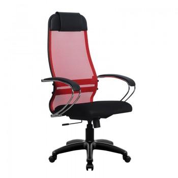 Кресло Samurai Ultra SU-1-BK 18 красный, сетка/ткань, крестовина пластик Pl - оптово-розничная продажа