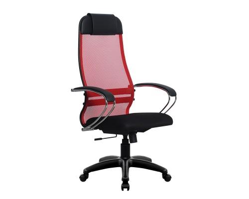 Кресло Samurai Ultra SU-1-BK 18 красный, сетка/ткань, крестовина пластик Pl