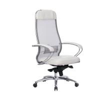 Кресло Samurai SL-1.04 сетка/кожа, белый лебедь