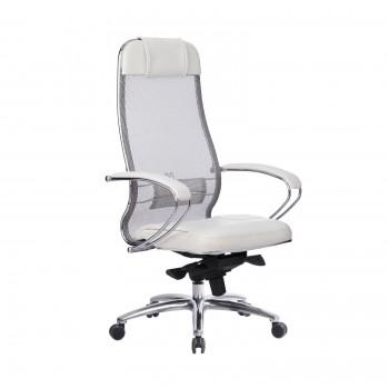 Кресло Samurai SL-1.04 сетка/кожа, белый лебедь - оптово-розничная продажа