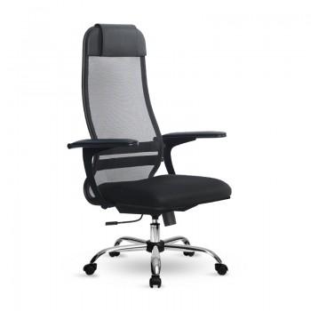 Кресло Samurai Ultra SU-1-BP 13 ткань/сетка, крестовина хром Ch - оптово-розничная продажа
