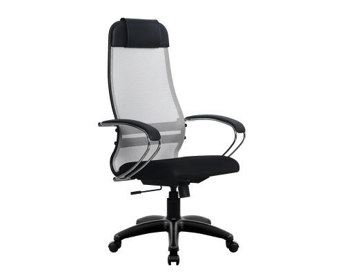 Кресло Samurai Ultra SU-1-BK 18 светло-серый, сетка/ткань, крестовина пластик Pl