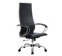 Кресло Samurai Ultra SK-1-BK 8 CH черный, кожа NewLeather