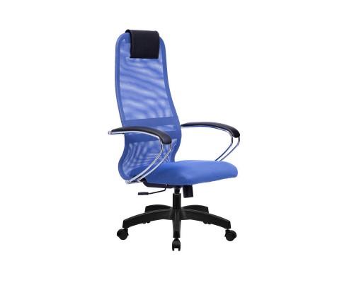 Кресло Samurai Slim S-BK 8 синий, сетка/ткань, крестовина пластик Pl