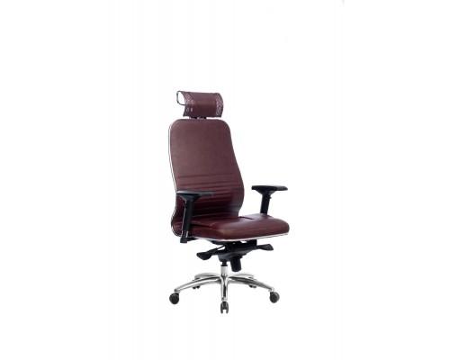 Кресло Samurai KL-3.04 кожа, темно-бордовый