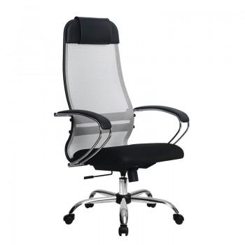 Кресло Samurai Ultra SU-1-BK 18 светло-серый, сетка/ткань, крестовина хром Ch  - оптово-розничная продажа